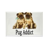 Pug Addict Rectangle Magnet