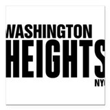 "Washington Heights NYC Square Car Magnet 3"" x 3"""