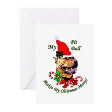 American Pit Bull Terrier Greeting Cards (Pk of 10