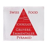 Swiss Food Pyramid Throw Blanket