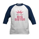 Only Child Big Sister Baseball Jersey