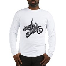 Freestyling on a dirt bike Long Sleeve T-Shirt