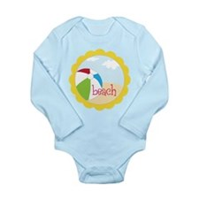 Beach Long Sleeve Infant Bodysuit