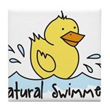 Natural Swimmer Tile Coaster