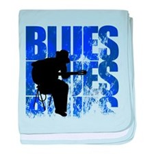 blues guitar baby blanket