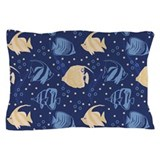 Blue Fish Pillow Case