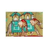 2 Elephants ~ Fridge Magnet