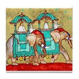 2 Elephants ~ Tile Coaster