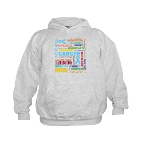 Prostate Cancer Awareness Collage Kids Hoodie