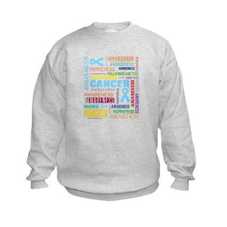 Prostate Cancer Awareness Collage Kids Sweatshirt