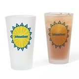 Johnathan Sunburst Drinking Glass