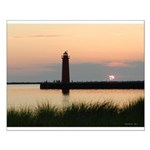 .Muskegon Breakwater Light. Small Poster