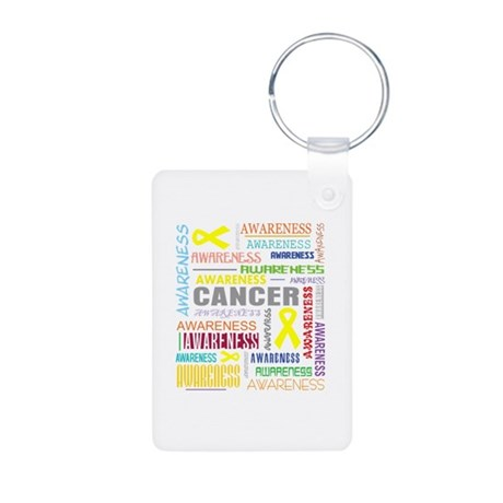 Sarcoma Awareness Collage Aluminum Photo Keychain