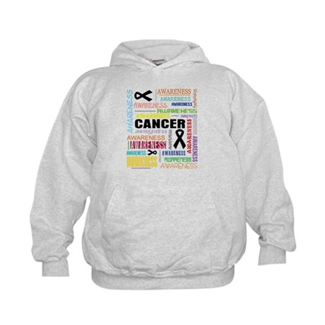 Skin Cancer Awareness Collage Kids Hoodie