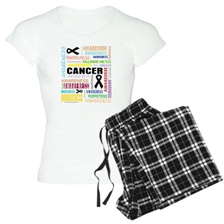 Skin Cancer Awareness Collage Women's Light Pajama