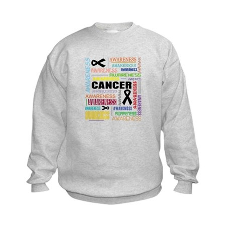 Skin Cancer Awareness Collage Kids Sweatshirt