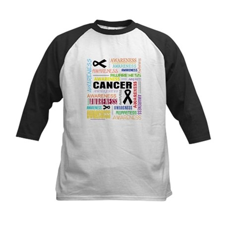 Skin Cancer Awareness Collage Kids Baseball Jersey