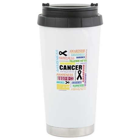 Skin Cancer Awareness Collage Ceramic Travel Mug