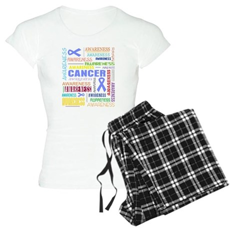 Stomach Cancer Awareness Collage Women's Light Paj