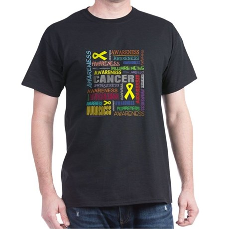 Testicular Cancer Awareness Collage Dark T-Shirt