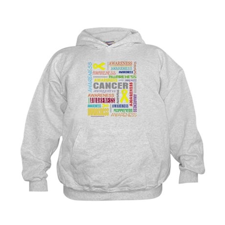 Testicular Cancer Awareness Collage Kids Hoodie