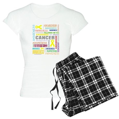 Testicular Cancer Awareness Collage Women's Light
