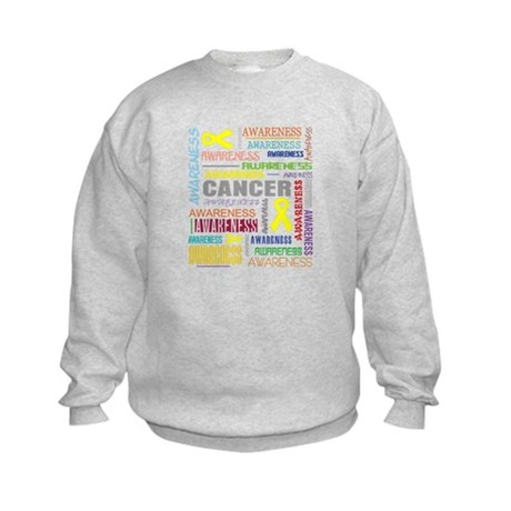 Testicular Cancer Awareness Collage Kids Sweatshir