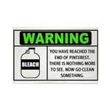 Pinterest Warning Clean Something Rectangle Magnet