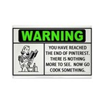 Pinterest Warning Cook Something Rectangle Magnet