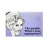 Superhero Nurse Rectangle Magnet