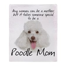 Poodle Mom Throw Blanket
