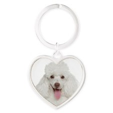 Poodle Mom Heart Keychain