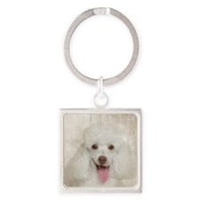 Poodle Mom Square Keychain