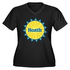Heath Sunburst Women's Plus Size V-Neck Dark T-Shi