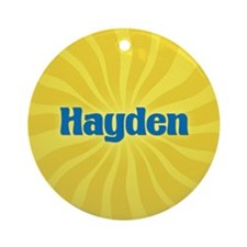 Hayden Sunburst Ornament (Round)