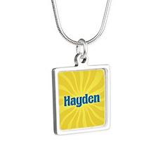 Hayden Sunburst Silver Square Necklace