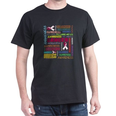 Throat Cancer Awareness Collage Dark T-Shirt