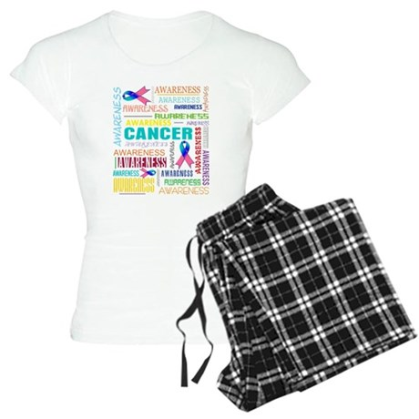 Thyroid Cancer Awareness Collage Women's Light Paj