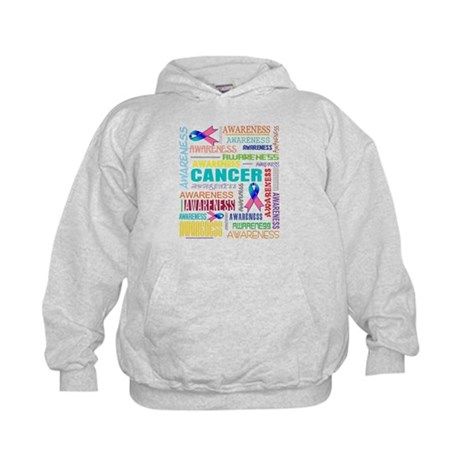 Thyroid Cancer Awareness Collage Kids Hoodie