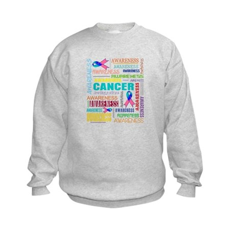Thyroid Cancer Awareness Collage Kids Sweatshirt
