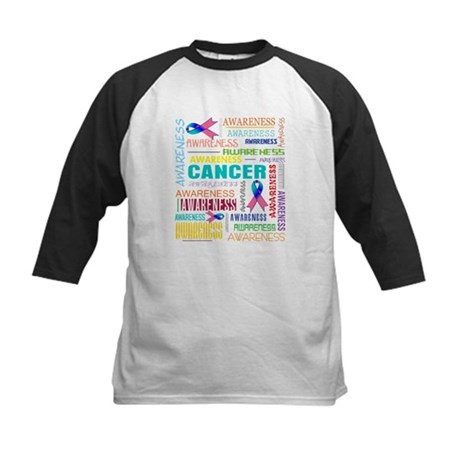 Thyroid Cancer Awareness Collage Kids Baseball Jer