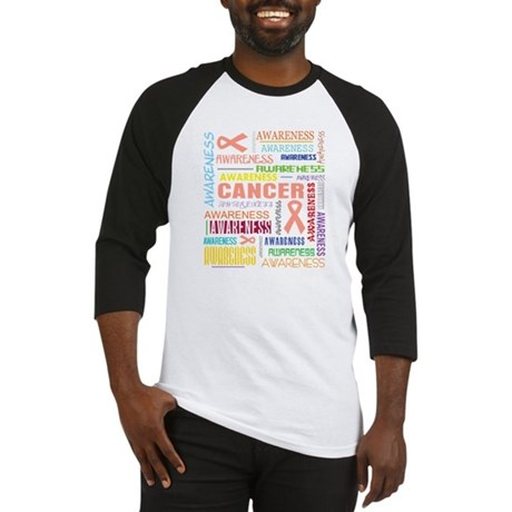 Uterine Cancer Awareness Collage Baseball Jersey
