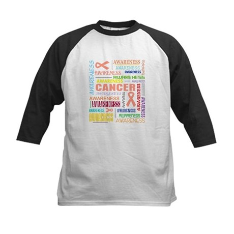 Uterine Cancer Awareness Collage Kids Baseball Jer