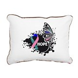 Hope Thyroid Cancer Rectangular Canvas Pillow