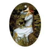 Waterhouse Ophelia Ornament (Oval)