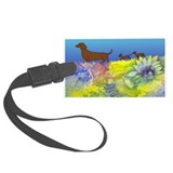 Dachshund Run Large Luggage Tag