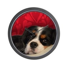 Tri-Color Cavalier King Charles Spaniel Wall Clock