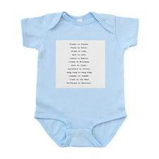 Rhyming journeys Infant Bodysuit