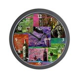 Beautiful Contemporary Wine Collage Wall Clock