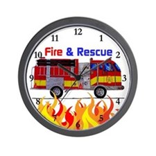 Fire And Rescue Wall Clock
